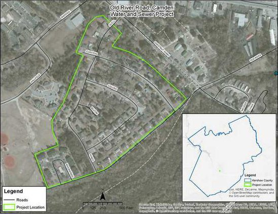Water Sewer Project Map