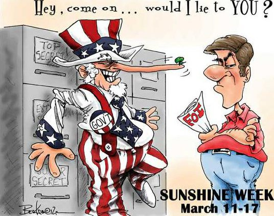 Sunshine Week cartoon