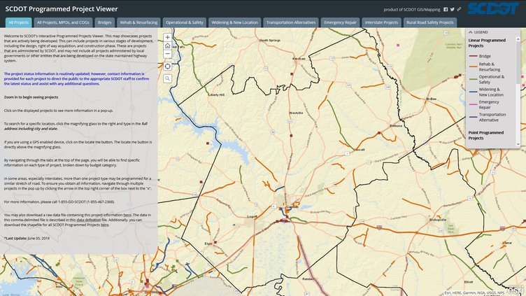 SCDOT Project Viewer